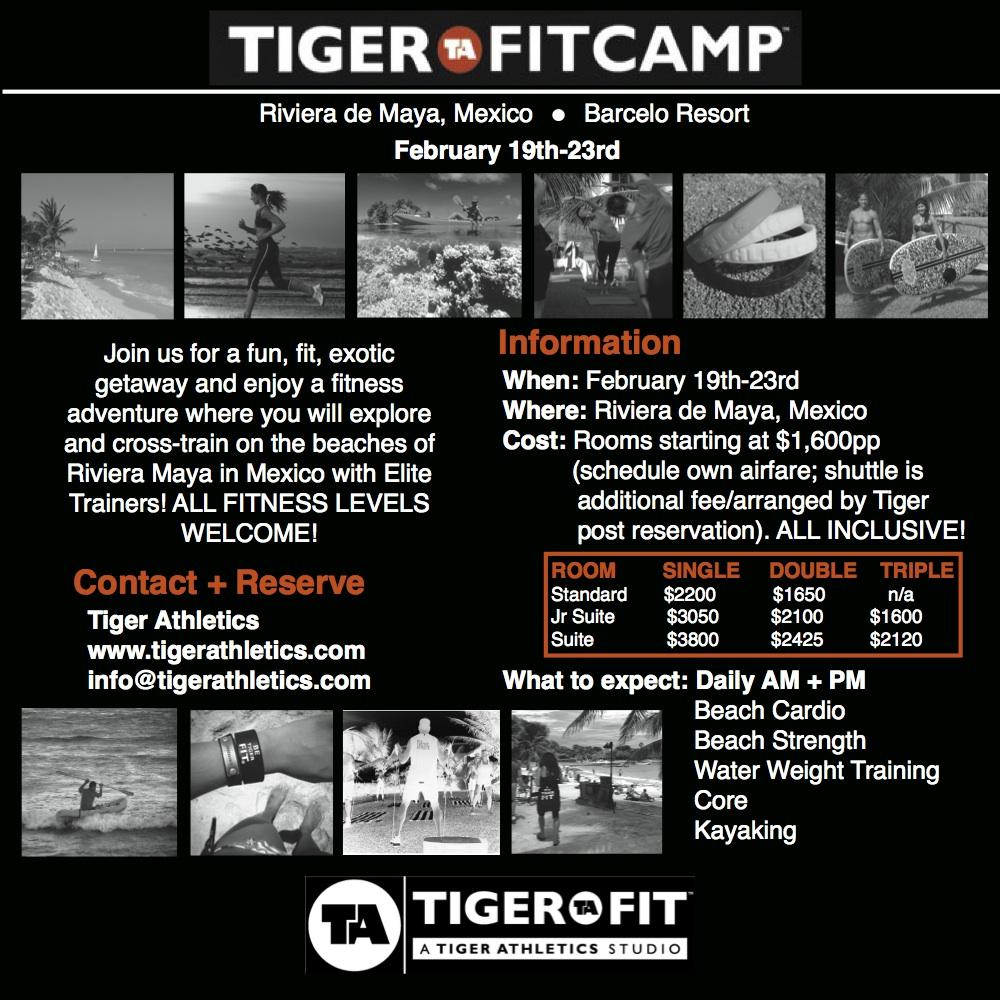 Tiger Fit Camp - Riviera Maya Mexico - Feb 19 - 23 2014